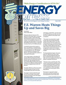 March 2013 Energy Express