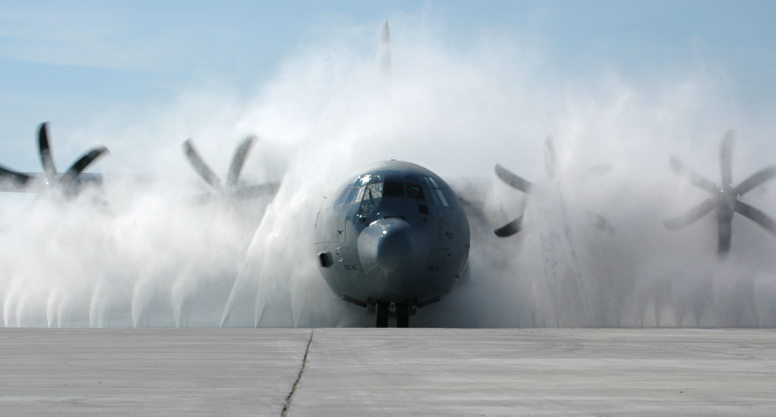 picture of aircraft being washed