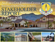 Cover of 2017 Installation Stakeholder Report showing Air Force family housing